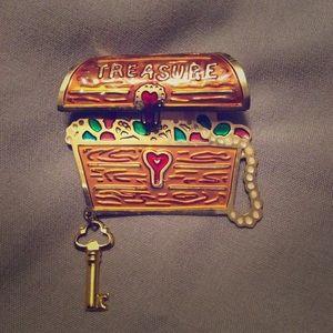 Jewelry - Treasure Chest Brooch